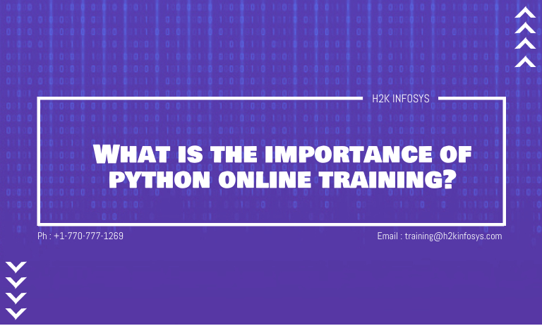 What is the importance of python online training